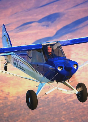 a blue cubcrafters aircraft for an airplane appraiser